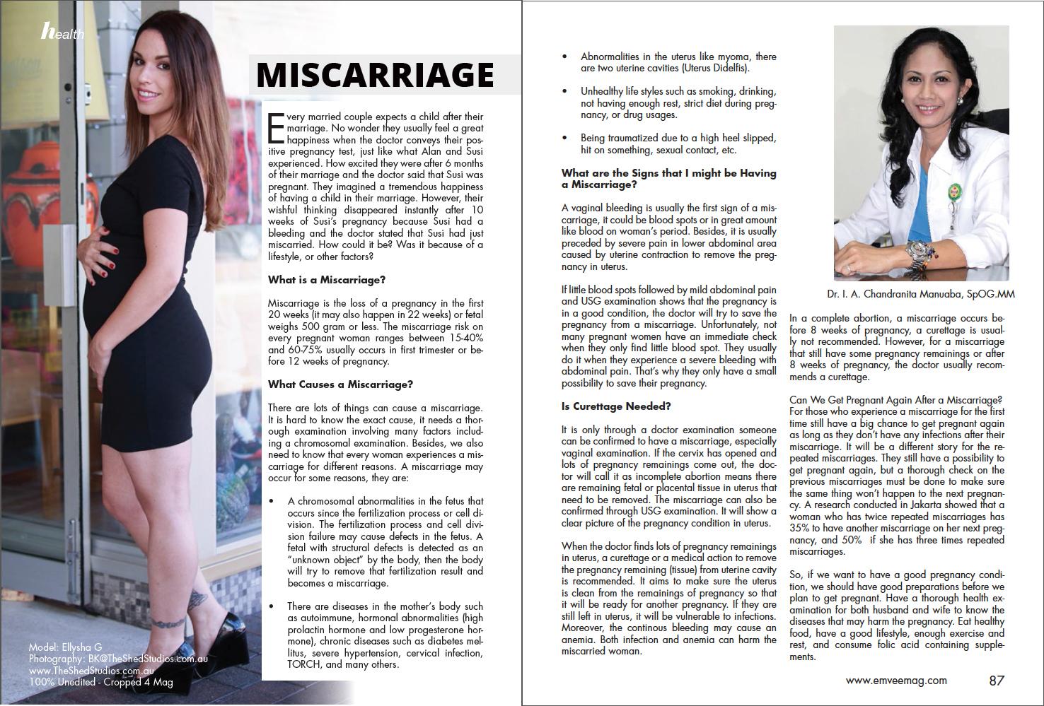Some of the Published Clients & Photography by BK @ The Shed Studios